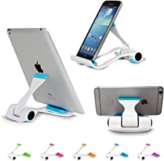 """Macngrid Tablet and Cell Phone Stand, Mac19, Holder, Mount for Apple iPad, iPhone, Samsung Galaxy Tab, Kindle, Fit to Any Devices from 4""""-12"""""""