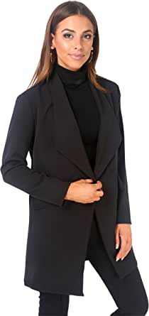 KRISP Blazer Donna Giacca Elegante Taglie Forti Lunga Oversize Boyfriend Classico Cerimonia Ufficio Size
