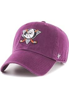 47 BRAND Anaheim Ducks Gold Emblem Cap Basecap Baseballcap Curved Brim