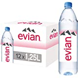 evian Natural Mineral Water 1.25L, Case of 12