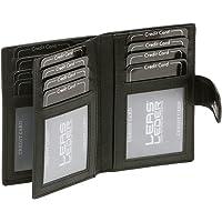 LEAS Portacarte con RFID Protezione, Vera Pelle, Nero Card-Collection''