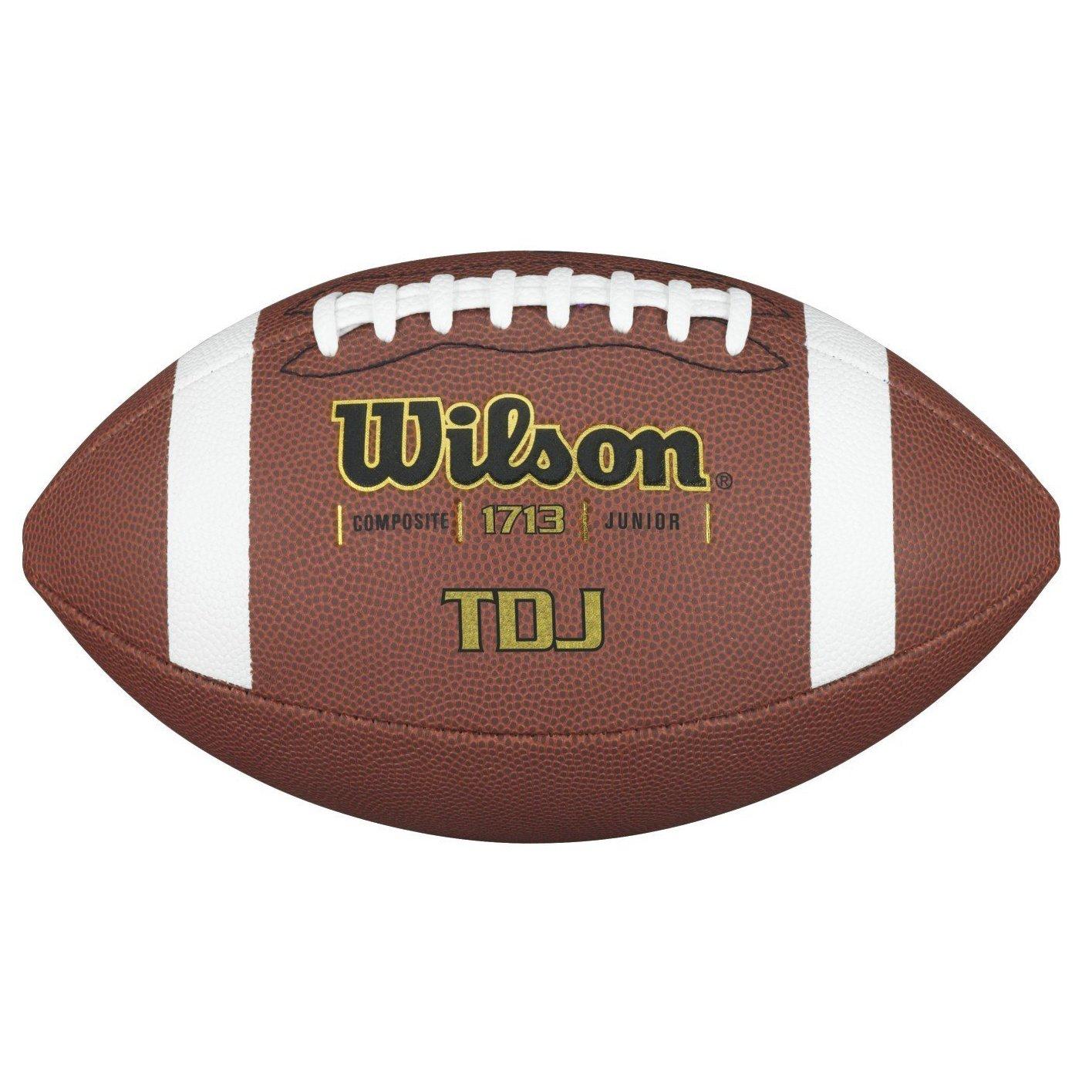 Wilson Tdj Traditional Composite Pallone da Football Americano, Marrone, Taglia Unica