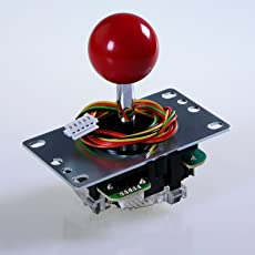 Sanwa JLF-TP-8YT-SK OEM Red Ball Handle Arcade Joystick 4 & 8 Way Adjustable (Mad Catz SF4 Tournamen