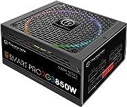 Thermaltake Smart Pro 850 W Fully Modular RGB Fan 80 Plus Power Supply Unit, Black (PS-SPR-0850FPCBEU-R - Black)