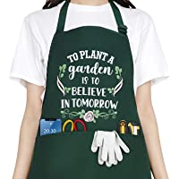Funny Garden Aprons for Women, Waterproof Kitchen Aprons with 2 Pockets for Cooking Baking Gardening - Cute Birthday…