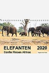 Elefanten - Sanfte Riesen Afrikas (Tischkalender 2020 DIN A5 quer): Begegnungen in Botswana. (Monatskalender, 14 Seiten ) (CALVENDO Tiere) Kalender