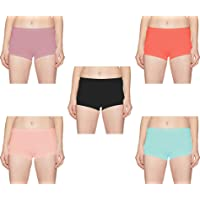 Pepperika Sexy Ultra Soft Full Coverage Boyshorts Boy Leg Panties for Women (Pack of 3) Size XL