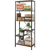1500 x 800 x 345 mm finitura in rovere e metallo nero opaco Libreria industriale a 5 ripiani stile contemporaneo Racking Solutions