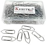 KESETKO® Paper Clips, Gem Clips, Paper U Clips, (100 Pcs) 35 MM Metal Steel Paper Clips, for Office, Home, School, Shop