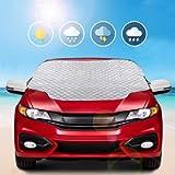 MYSBIKER Parasole Copertura Parabrezza Auto, Protezione Parabrezza Antighiaccio Anti UV Antifurto per Auto con Telo…