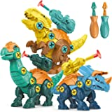 STAY GENT Dinosaurio Juguetes para Niños con Misil Fuego 3 Packs DIY Dinosaurio con Taladro Educativo Juguetes con Juego Cons