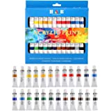 24 Colors Oil acrylic Paints Set Water Color for Hand Painted Wall Painting Textile Paint Nail Glass art Painting Paint Fabri