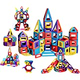 Dookey Magnetische Bausteine 132Pcs Konstruktion Bauen Bl/öcke Montessori Bausteine Spielzeug Auto Spielzeug Roboter Schloss Ferris Wheel Ideales Lernspielzeug f/ür Zuhause Schule Kindertagesst/ätte