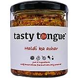 tasty tongue - Homemade Haldi Ka Achar (Raw Turmeric/Curcumin with Lemon Decoction Super Pickle), Traditional, Healthy, Certi