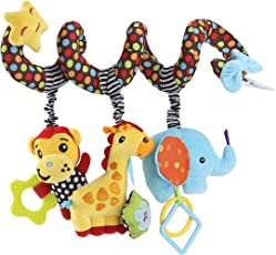 Stroller Toy TOYMYTOY Infant Baby Activity Spiral Bed Monkey Elephant Educational Plush Soft Toys