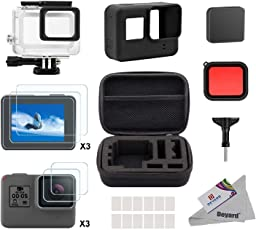 Deyard 25 in 1 kit di accessori per GoPro Hero (2018) GoPro Hero 6 Hero 5 (2018) con piccolo kit custodia antiurto per GoPro Hero GoPro Hero 6 Hero 5 Action Camera