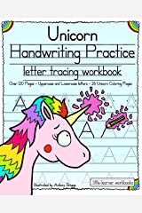 Unicorn Handwriting Practice: Letter Tracing Workbook (Little Learner Workbooks) Paperback