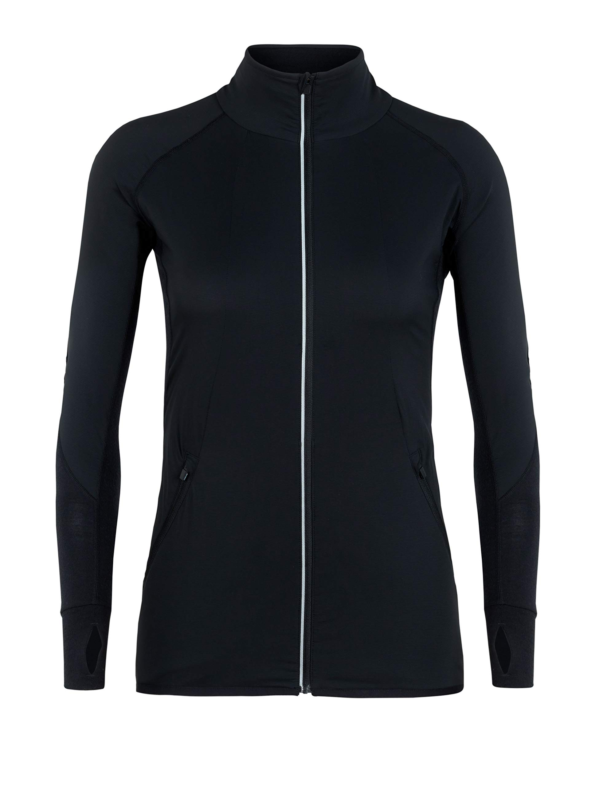 Icebreaker Damen Tech Trainer Hybrid Jacket Fleecejacke, Black, XS