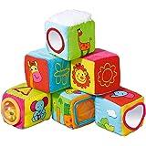babywalz Stoffwürfel (6er-Pack) - Stoff-Spielzeug für Babys & Kleinkinder - Motorikspielzeug zum Greifen & Fühlen - ab Geburt geeignet - bunt