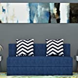 Dr Smith Moshi Fabric Sofa Cum Bed (5x6) Three Seater Sofa Cum Bed - Perfect for Guest and Living Room (Blue)