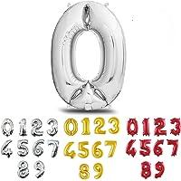 Pallone GIGANTE XL Numero Argento, Numeri 0 1 2 3 4 5 6 7 8 9 10 18 20 30 40 50 60 70 80 90 100 Elio Aria Palloncini per…