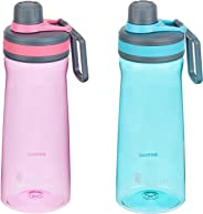 Amazon Brand - Solimo Sports Water Bottles, 800 ml, Set of 2 (Pink, Blue)