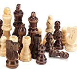 """AMEROUS Magnetic Wooden Chess Pieces, Tournament Staunton Wood Chessmen Pieces Only, 3.03"""" King Figures Chess Game Pawns Figu"""