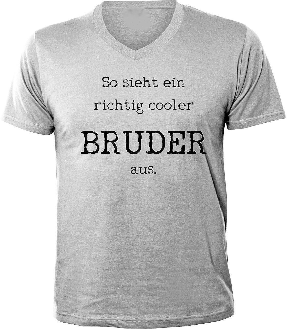 Shoppen Sie Mister Merchandise Herren T Shirt So Sieht Ein Richtig Cooler  Bruder Aus Geschwister Brother V Neck V Ausschnitt Auf Amazon.de:T Shirts