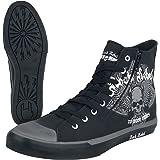 Rock Rebel by EMP Walk The Line Unisex Sneakers Alte Nero