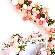 PartyWoo Ballon Rose Peche, 100 pcs Ballon Peche, Ballon Corail, Ballon Rose Pale, Ballon Fushia, Balon Rose, Ballon Beige, B