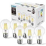 LVWIT 4W Ampoule LED Filament E27, 2700K Blanc Chaud 470 Lm, Equivalent à Ampoule incandescence 40 watts, Filament LED A60 en