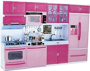 Kidsgenie Kids Luxury Battery Operated Big Size Modular Kitchen Super Set Toy With Light And Sound