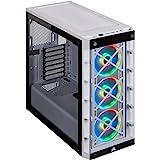 Corsair iCUE 465X RGB Cristal Templado Chasis Semi-torre ATX Inteligente (Paneles Lateral y Frontal de Cristal Templado, Tres