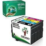 GREENSKY Cartouche d'encre Compatible pour Epson 603 603 XL pour Epson Expression Home XP-2100 XP2105 XP-4105 XP-4100 XP-3105
