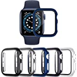 VASG [5 Pezzi] Custodia compatibile con Apple Watch Series 6/5/4/SE 40mm PC Cover con Protezione in Vetro Temperato per Custo