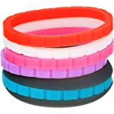 SZHSR Silicone Wedding Ring for Men & Women,Protect Your Hands and Marriage,Commit to What You Love, with 5 Replace Bands