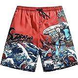 SURFASTER Pantalones cortos de natación para hombre, de secado rápido, casuales, cortos, para correr, gimnasio, etc