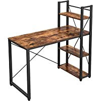 VASAGLE Bureau Informatique, Table d'ordinateur, Longueur 120 cm, avec étagères à Gauche ou à Droite, Stable, Montage…