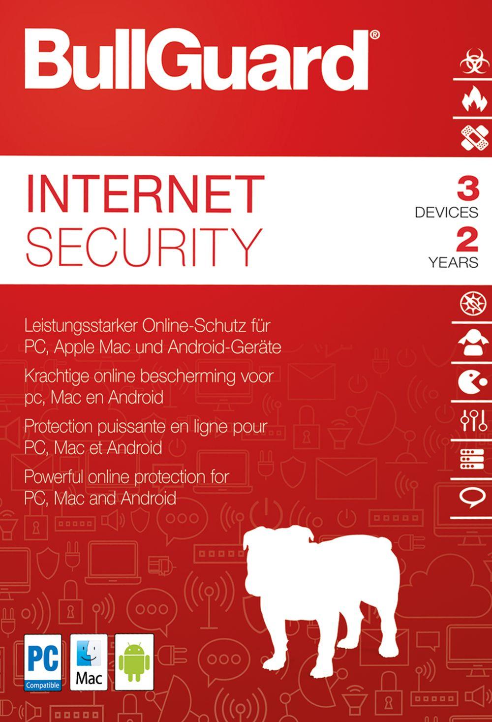 Bullguard Internet Security 2018 - Lizenz für 2 Jahre