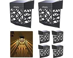 Etlephe Lampe Solaire Exterieur Jardin, 6 Pièces Étanche Lumière Solaire Exterieur, Éclairage Mural D'extérieur pour Portails