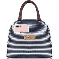 HOMESPON Sac Isotherme Repas Lunch Bag Portable Sac à Déjeuner Strieux en Tissu Imperméable Pliable Sac Pique-Nique…
