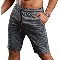 Srizgo Gym Shorts Running Shorts with 3 Invisible Zipped Pocket Breathable Ultra-Lightweight Bodybuilding Workout…
