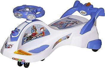 Dash Kids Deluxe Free Wheel Magic Swing Trans car Ride-on(White)