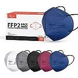 KKmier FFP2 Maske 30 Stück Mundschutzmasken 5 Lage Filterschutz Einweg-Atemschutzmasken Einzel Verpakt