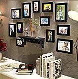 Painting Mantra Art Street Black Individual Wall Photo Frame - Set of 12