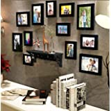 Painting Mantra Art Street Black Individual Wall Photo Frame - Set of 12