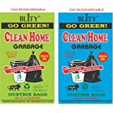 Clean Home - 6 Packs Medium Size 19 X 21 Disposable Garbage Bags for Dry and Wet Waste (90 Pcs Blue and 90 pcs Green) -3…