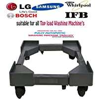 Amarks Fully Fiber Adjustable Top Loading Washing Machine Trolley/Stand Especially Designed for Whirlpool 6.2 kg