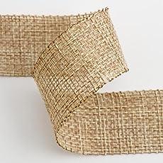 nicebuty Schleifenband aus Jute natur Tissage Schleifenband Jute-2m x 50mm DIY Arts Crafts