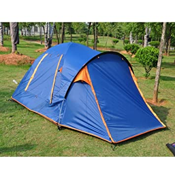 ZCu0026J 3-4 people c&ing tents one bedroom lobby tents family c&ing garden leisure rain sun tents easy to build high quality tentsblue3-4 Person ...  sc 1 st  Amazon UK & ZCu0026J 3-4 people camping tents one bedroom lobby tents family ...
